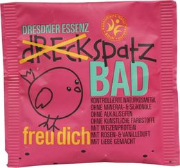 Dreckspatz Badesalz, freu dich (rot), Display à 10 Stk